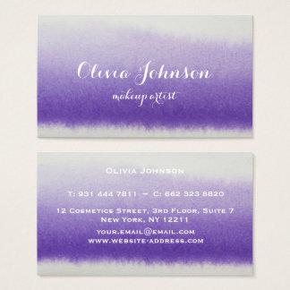 Maskenbildner-Aquarell-Lavendel Visitenkarte