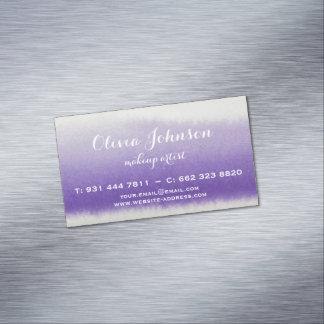 Maskenbildner-Aquarell-Lavendel Visitenkartenmagnet