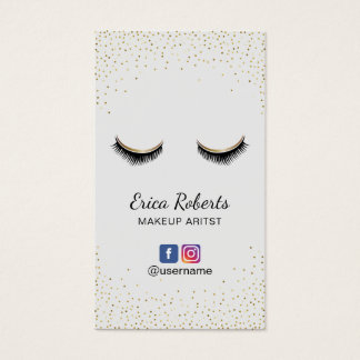Maskenbildner-Chic peitscht Salon-sozial-Medien Visitenkarte