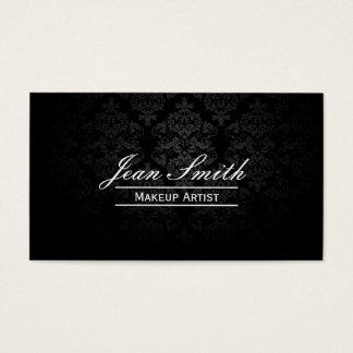 Maskenbildner-eleganter dunkler Damast Visitenkarten