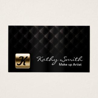 Maskenbildner-Luxusschwarzes u. Gold elegant Visitenkarte