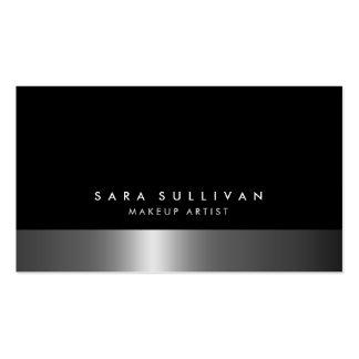Maskenbildner-mutige dunkle Chrom-Visitenkarte Visitenkarten
