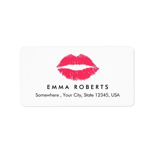 Maskenbildner-rote Lippeneleganter Adressetiketten
