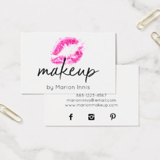 ★ Maskenbildner Visitenkarte