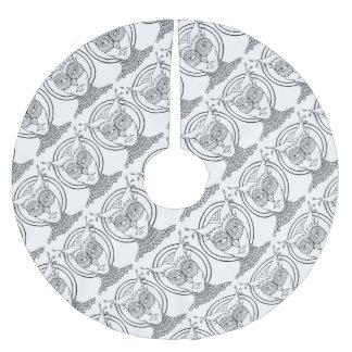 Maskerade-Eulen-Linie Kunst-Entwurf Polyester Weihnachtsbaumdecke