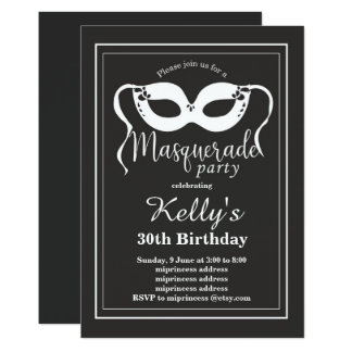 MASKERADE Party Einladung