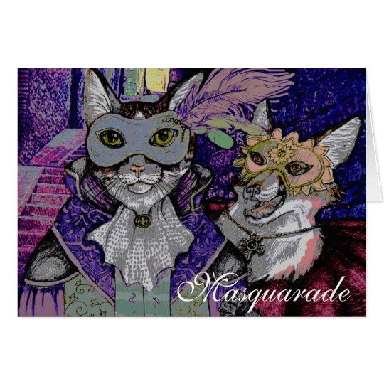 Masquarade Katze, Grußkarte