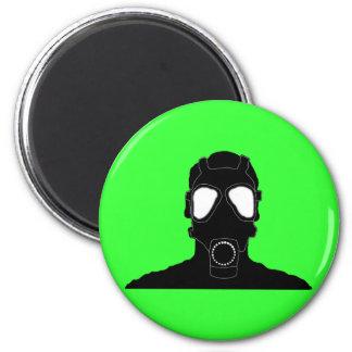 masque de gaz frais magnet rond 8 cm
