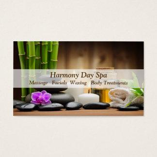 Massage en bambou de spa de zen d'huile de fleur cartes de visite