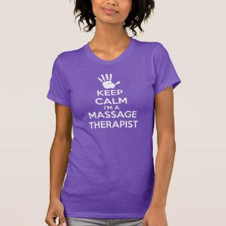 Massage-T - Shirt: Behalten Sie Ruhe, T-Shirt