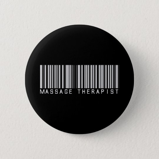 Massage-Therapeut-Bar-Code Runder Button 5,7 Cm