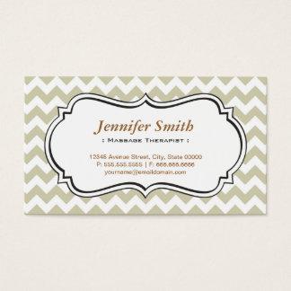 Massage-Therapeut - Zickzack einfacher Jasmin Visitenkarte