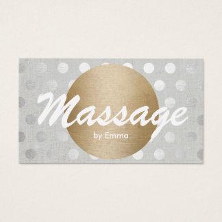 Massage-Therapie-Goldkreis-Silber punktiert Visitenkarte