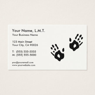 Massage-Therapie-Visitenkarten Visitenkarte