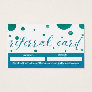 Massagetherapeut-Empfehlungskarte Visitenkarten