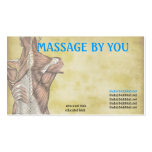Massagetherapeut-Visitenkarteschablone Visitenkartenvorlage