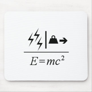 Masse-Energie Gleichwertigkeit Mousepads