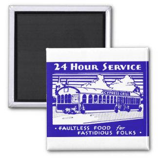 "Matchbook-Magneten - ""24 Stunden-Service "" Quadratischer Magnet"