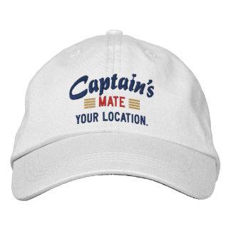 MATE de capitaine personnalisez-le ! Casquette bro Chapeau Brodé