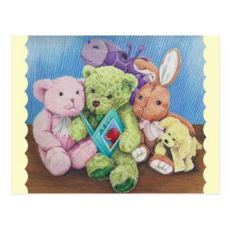 Material-Tierkreis-Zeit-Kunst-Druck Postkarte