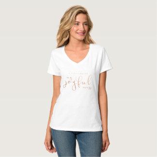 Maternité mon blanc rose d'or de T-shirt joyeux de
