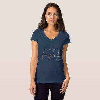 Maternité mon or rose de T-shirt joyeux de