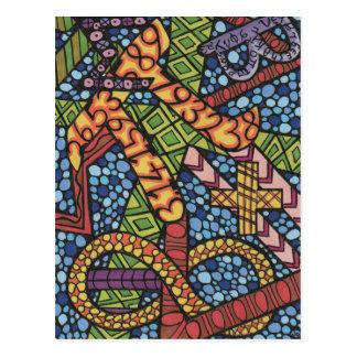 Mathe-Aussenseiter-Gekritzel Postkarte