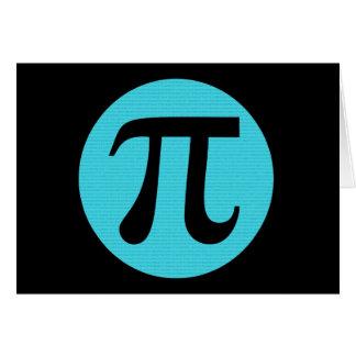 Mathe-Aussenseiter PU-Symbol, blau auf Schwarzem Karte