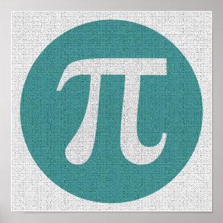 Mathe-Aussenseiter PU-Symbol, blauer Kreis und Poster
