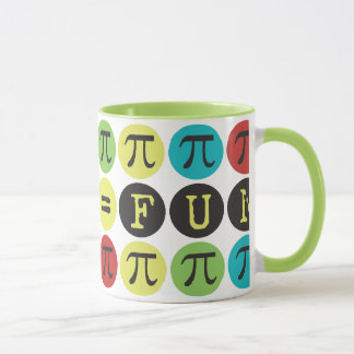 Mathe entspricht Spaß - buntem Mod-PU - lustiges Tasse