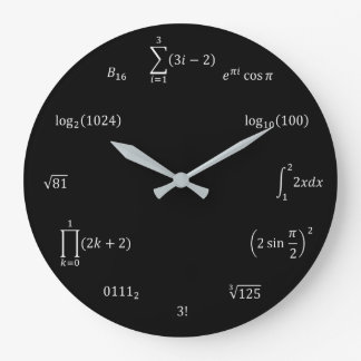 Mathe-Gleichungen und Anmerkungen Große Wanduhr