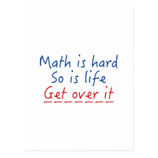 Mathe ist hart postkarte