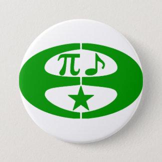 Mathe-Musik-Esperanto - Symbol-Knopf Runder Button 7,6 Cm