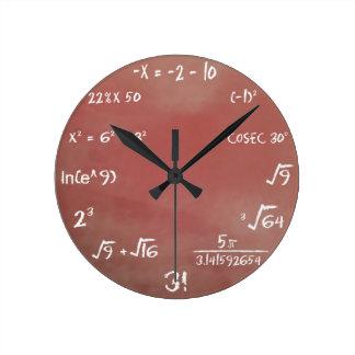 Mathe-Quiz-Uhr - Brown-Medium Runde Wanduhr