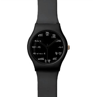 Mathe-Tafel-Uhr - lösen Sie die Zeit-Gleichungen Armbanduhr