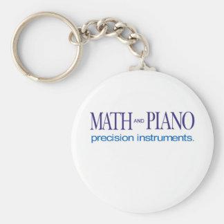 Mathe und Klavier _Feinmeßgeräte Standard Runder Schlüsselanhänger