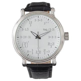 Mathearmbanduhr 3 x 3 - Schönheit von Einfachheit Uhren