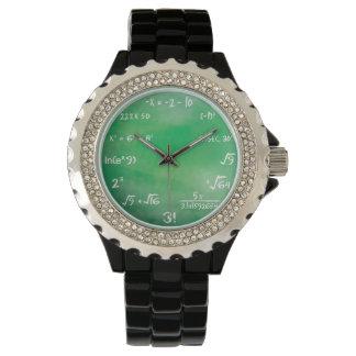 Mathematik-Gleichungs-Aussenseiter-Uhr Armbanduhr