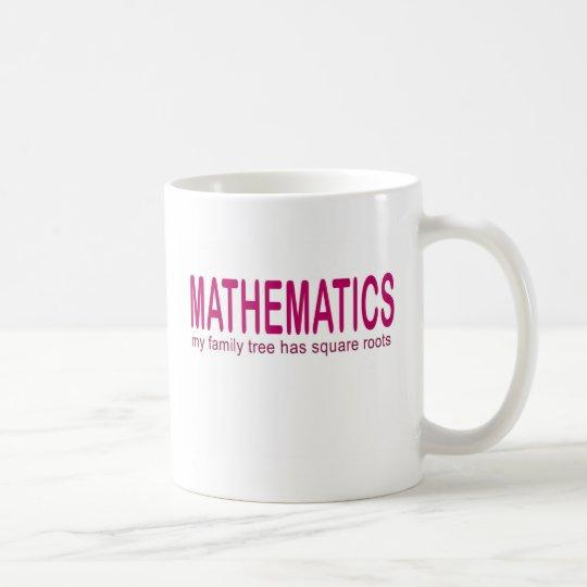 Mathematik _mein Stammbaum hat Quadratwurzeln Tasse