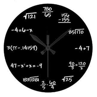 Mathematik-Tafel-Uhr - Mathematiker Große Wanduhr
