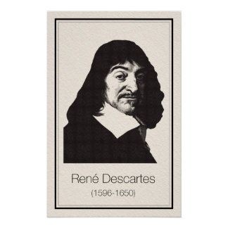 Mathematiker - Descartes Poster