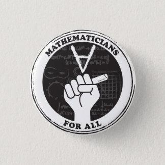 Mathematiker für allen Knopf Runder Button 2,5 Cm
