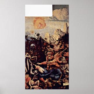 Mathis Gothart - die Versuchung von St Anthony Poster