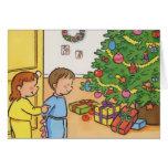 Matin de Noël Carte De Vœux