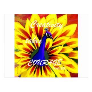 Matisse und Kreativität Postkarte