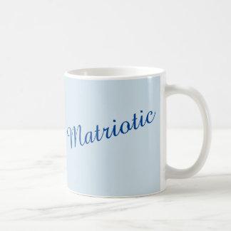 """""""Matriotic"""" im Blau Kaffeetasse"""