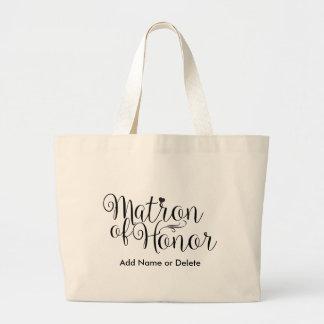 Matrone Ehrender großen Leinwand-Taschen-Tasche Jumbo Stoffbeutel