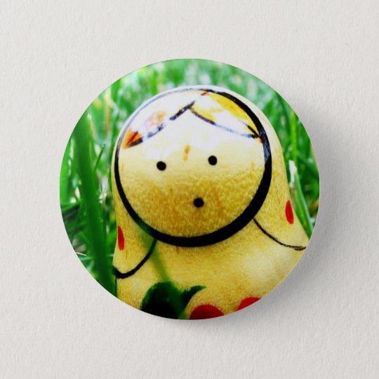 Matroshka (Verschachtelungs-Puppe) Runder Button 5,1 Cm