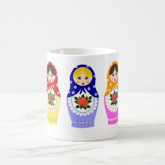 Matryoschka Puppen Tasse