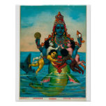 Matsya Avatara von Vishnu Poster